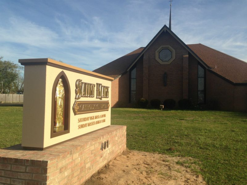 New Sign for St Mary Catholic Church in Pensacola, FL
