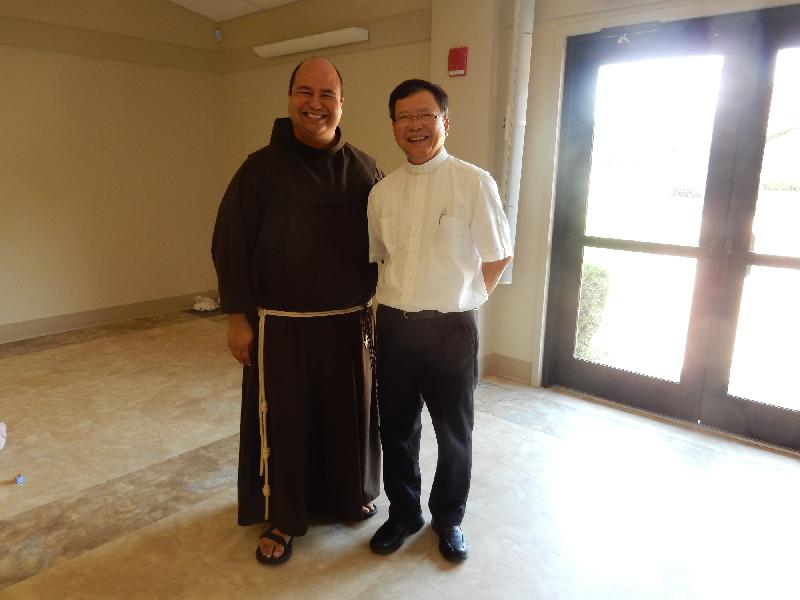 Father Lopez with Father Dominic